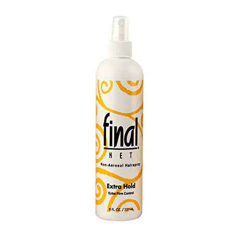 FINAL NET, Hairspray, Extra Hold, Non-Aerosol, 8 oz, (6 Pack)