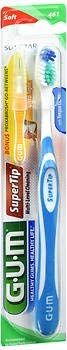 GUM Super Tip Toothbrush Soft Compact - 1 each, Pack of 2