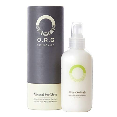 O.R.G Skincare | Mineral Peel Body   Flash Exfoliating Peel Spray, Gentle Enough For Sensitive Skin