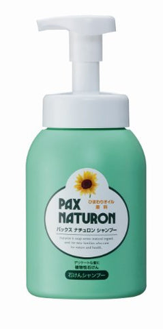 TAIYO YUSHI PAX NATURON | Shampoo | Soap Shampoo Sunflower Oil, 500ml (Japan Import)