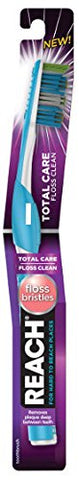 Reach Total Care Floss Clean Toothbrush Soft - Floos Bristles (3 Pack)