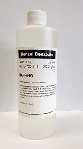 Ccs, Llc Benzyl Benzoate 500ml (16oz) High Purity Fragrance/Aroma Compound