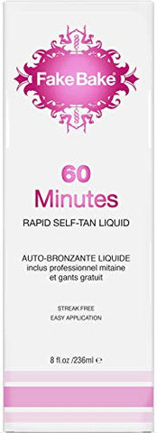 Fake Bake 60 Minutes Rapid Self Tanning Liquid Spray 8 Oz