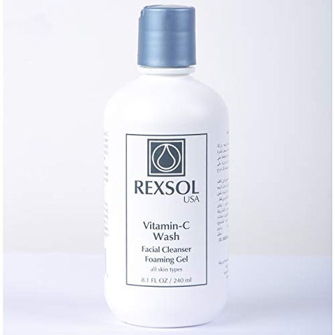 Rexsol Vitamin C Wash Facial Cleanser Foaming Gel | With 15% Vitamin C, A & E | Anti Aging, Reduce W