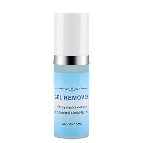 Lashes Remover Gel - Delaman Implanted False Eyelash Gel Glue Removal Cream No Stimulation 15ml