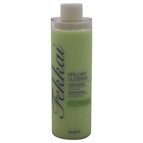 Fekkai Brilliant Glossing Hair Conditioner | Gentle Detangling, Vivid Gloss | Infused with Sun-Ripened Olive Oil | Fresh Floral Garden Scent | 236 mL / 8 fl oz