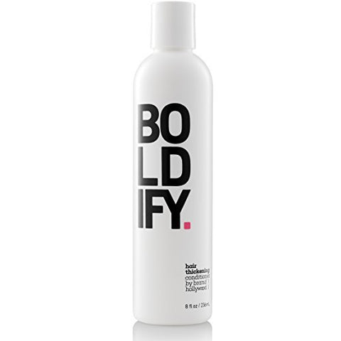 BOLDIFY Hair Thickening Conditioner - Natural Anti Hair Loss Complex Instantly Stimulates Thicker, Fuller Hair - Cruelty & Sulfate Free Biotin Conditioner for Hair Growth - 8oz
