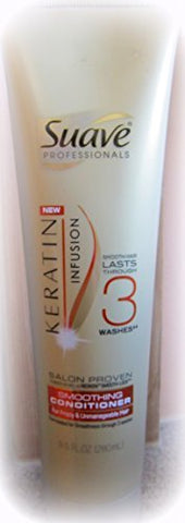 Suave Professionals Keratin Infusion ~ Smoothing Hair Conditioner 9.5oz (Quantity 1)