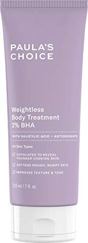 Paula's Choice Weightless Body Treatment 2% BHA, Salicylic Acid & Chamomile Lotion Exfoliant, Moisturizer for Keratosis Pilaris (KP) Prone Skin, 7 Ounce