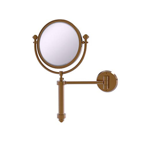 Allied Brass SB-4/5X Southbeach Collection Wall Mounted 8 Inch Diameter with 5X Magnification Make-Up Mirror, Brushed Bronze