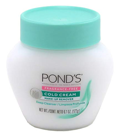 Ponds Cold Cream Make-Up Remover Fragrance-Free 6.1 Ounce (2 Pack)