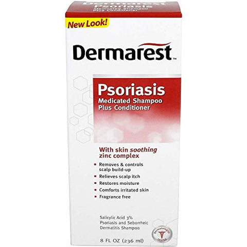 Dermarest Psoriasis Medicated Shampoo Plus Conditioner - 8 oz, Pack of 5