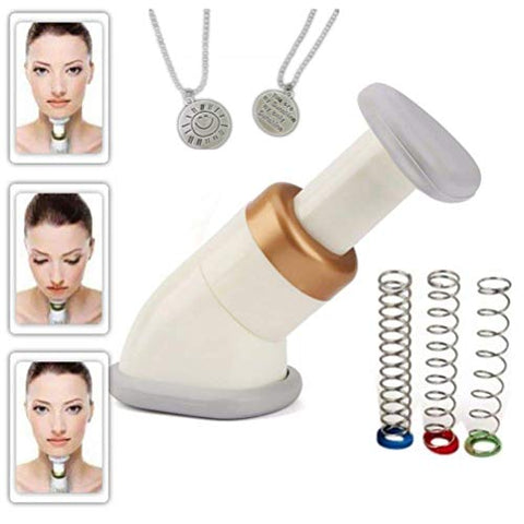 Neckline Slimmer, Ledteem Portable Neck Exerciser Chin Massager to Reduce Double Chin for Both Men and Women