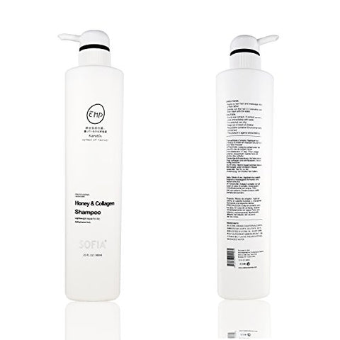 Sofia Emp Keratin Honey & Collagen Shampoo For Normal To Dry Hair  Increase Gloss, Hydration, Shine