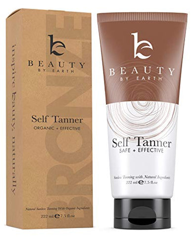 Self Tanner With Organic & Natural Ingredients, Tanning Lotion, Sunless Tanning Lotion For Darker Br