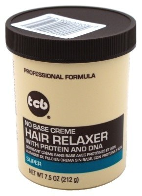 Tcb Hair Relaxer No Base Creme 7.5 Ounce Super Jar (221ml) (6 Pack)