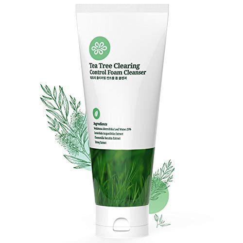 Lov Luv Tea Tree Foaming Facial Cleanser, K Beauty Daily Face Wash With Natural Ingredients And Anti