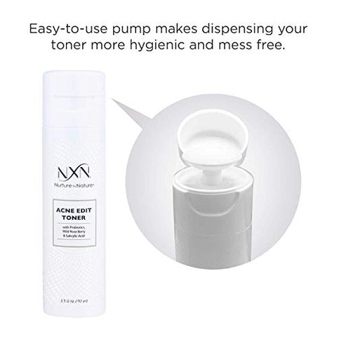 Nx N Acne Facial Toner With Salicylic Acid, Witch Hazel, Probiotics & Natural Multi Fruit Extracts Al