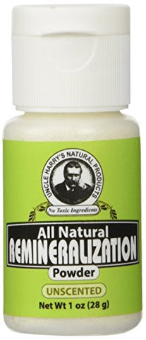 Uncle Harry's Unscented Remineralizing Tooth Powder | All Natural Enamel Support & Whitening Toothpa