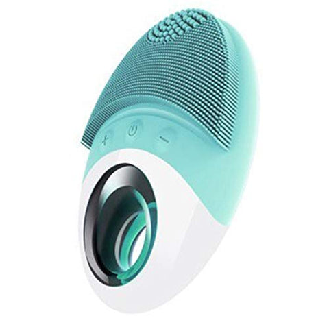 I want to fly freely Cleansing Instrument Pore Cleaner Electric Face Detox Rechargeable Silicone Wash Brush Waterproof Wash Artifact (Color : Light Green)