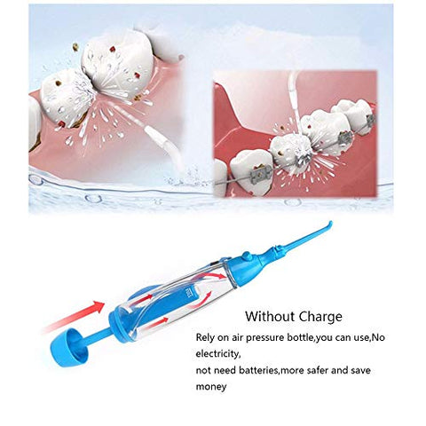 Practical Portable Water Flosser Jet Cleaning Tooth Mouth Denture Cleaner Dental Hygiene Floss Dental Manual Oral Irrigator