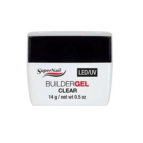 Supernail Clear LED/UV Builder Gel, 0.5 Fluid Ounce