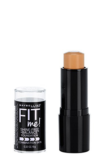 Maybelline New York Fit Me Shine Free + Balance Stick Foundation, Natural Beige, 0.32 Oz.
