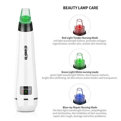 Blackhead Remover MaiTuo BT Pimple Comedone Pore Vacuum Extractor Machine Facial Pore Cleanser Cleaner Removal Tool (White)