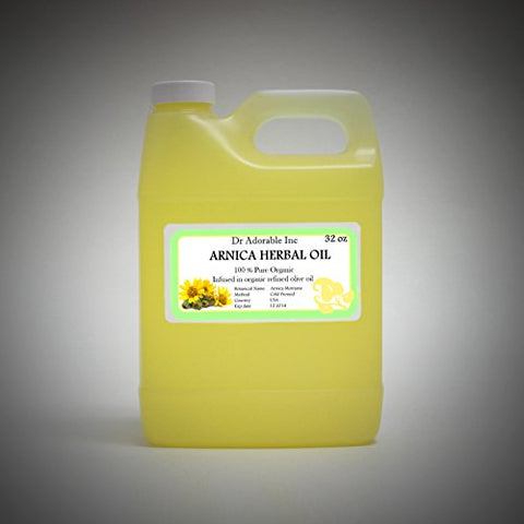 Organic Arnica Herbal Oil 100% Pure 32 Oz / 1 Quart