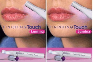 Finishing Touch Lumina Lighted Hair Remover with Pivoting Head (Pack of 2)