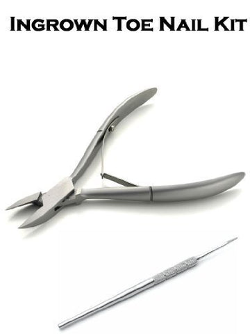 Ingrown Toe Nail Kit Nail Clippers 4.75'' Double End Blacks File Podiatrist. Stainless Steel & Ce Approved