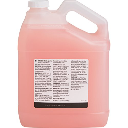 Genuine Joe Liquid Hand Soap with Skin Conditioner, 1 gallon Bottle, Pink