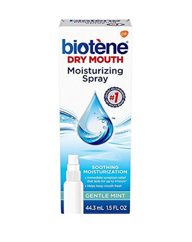 Biotene Dry Mouth Moisturizing Spray, Gentle Mint, 1.5 Ounces (44.3ml)