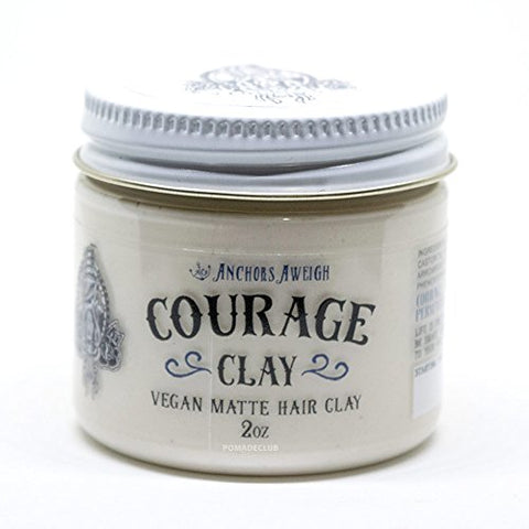 Anchors Hair Company Courage Clay - Natural Vegan Hair Clay (2.3 Oz)