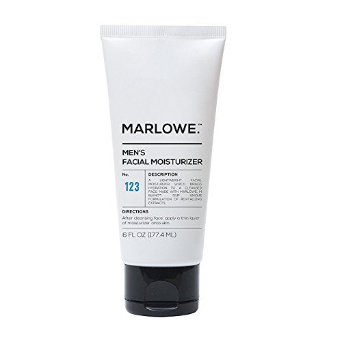 MARLOWE. No. 123 Men's Facial Moisturizer 6 oz | Lightweight Daily Face Lotion for Men | Best for Dr