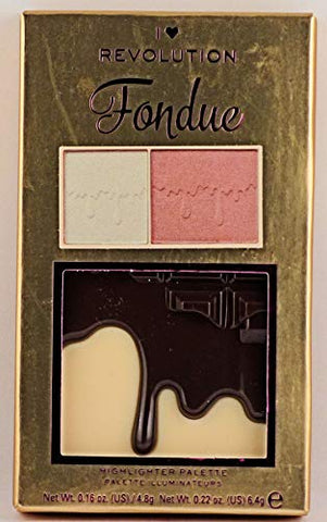 I Heart Makeup Revolution Highlighter Palette MINI, Chocolate Fondue