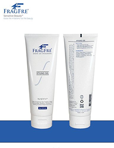 FRAGFRE Styling Gel Fragrance Free 8 oz - Hair Styling Gel for Sensitive Skin - Hypoallergenic Sulfa