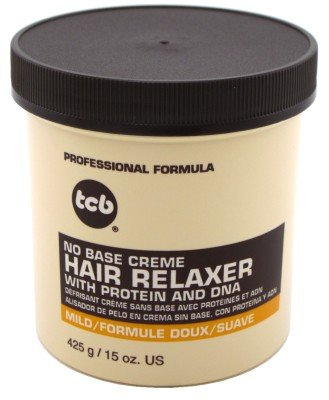 Tcb Hair Relaxer No Base Creme 15 Ounce Mild Jar (443ml) (6 Pack)