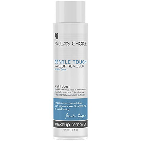 Paula's Choice Gentle Touch Oil Free Waterproof Makeup Remover, Aloe & Green Tea, Non Irritating, 4.