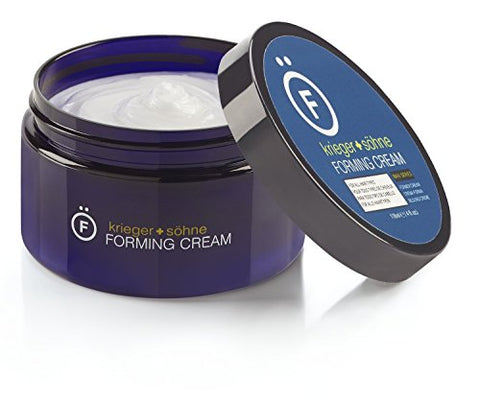 Premium Forming Cream For Men - 4oz jar - K+S Salon Quality Hair Care Products for Long & Short Hair - Natural Matte Finish & Medium Hold - Large 4oz Size