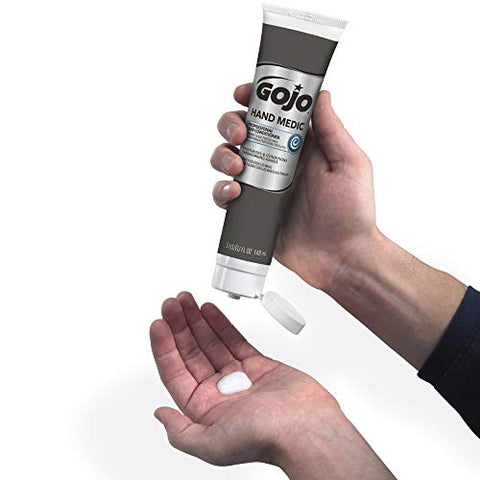 Gojo Hand Medic Professional Skin Conditioner, Fragrance Free, 5 Fl Oz Portable Squeeze Tube (Pack O