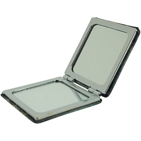 Compact Mirror Old Sewing Machine Design 2x Magnification Square Travel Pocket Mirror SC1174 - The Olivia Collection