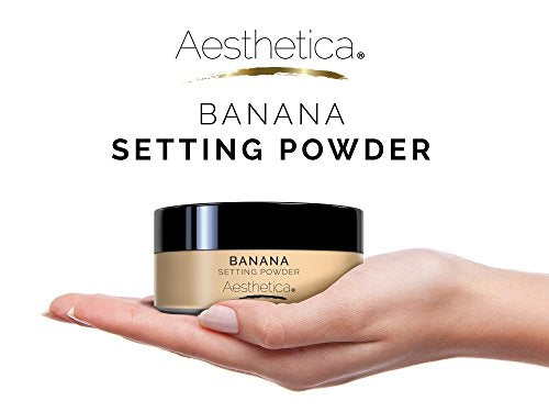 Aesthetica Banana Loose Setting Powder - Flash Friendly Superior Matte Finish Highlighter & Finishin