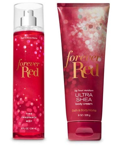 Bath and Body Works Forever Red Set - Fine Fragrance Mist and Ultra Shea Body Cream - Full Size - 2018 Special Edition