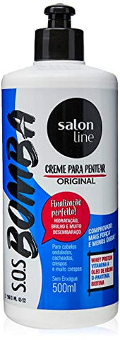 Linha Tratamento (SOS Bomba de Vitaminas) Salon Line - Creme Para Pentear Explosao De Forca 500 Ml - (Salon Line Treatment (Vitamin Bomb SOS) Collection - Power Explosion Combing Cream 17.64 Fl Oz)