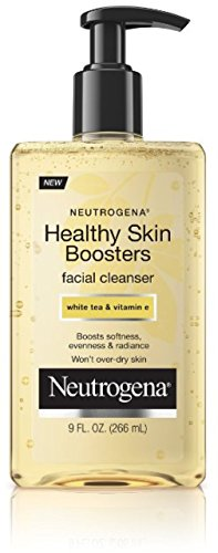 Neutrogena Healthy Skin Boosters Facial Cleanser with Moisturizing Vitamin E and Antioxidant White Tea for Healthy Looking Skin, Oil-Free, 9 fl. oz