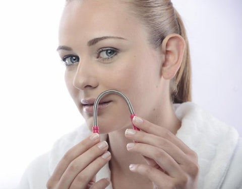 Spring Facial Hair Remover   Hair Threading Tool For Women   Removes Hair From Upper Lip, Neck & Chi