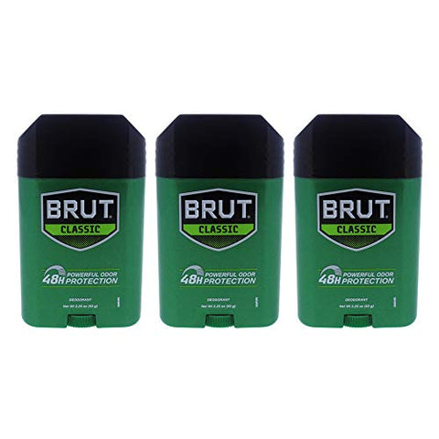 Classic 48H Protection Deodorant Stick by Brut for Men - 2.25 oz Deodorant Stick - Pack of 3