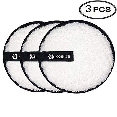 Coshine Makeup Removal Cookie Puff, Face Eraser Removing Cleaning Puff (3pieces)