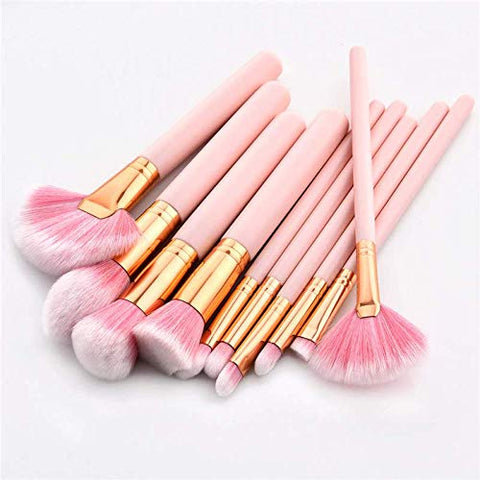 10PCS Makeup Brushes Set Pink Handle Women Foundation Make up hot girl new year
